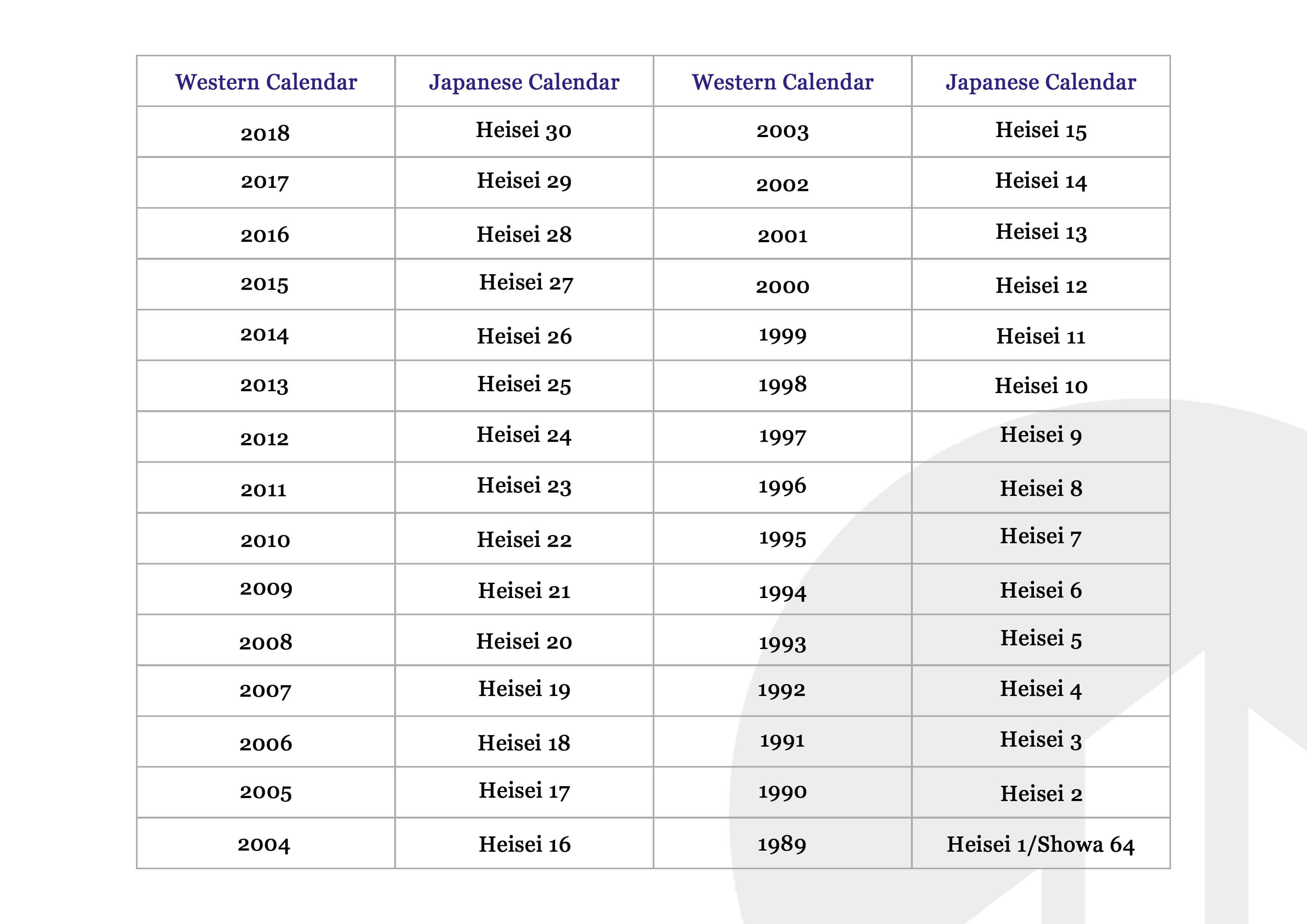 Japanese Calendar Year : Japanese calendar — aaajapan