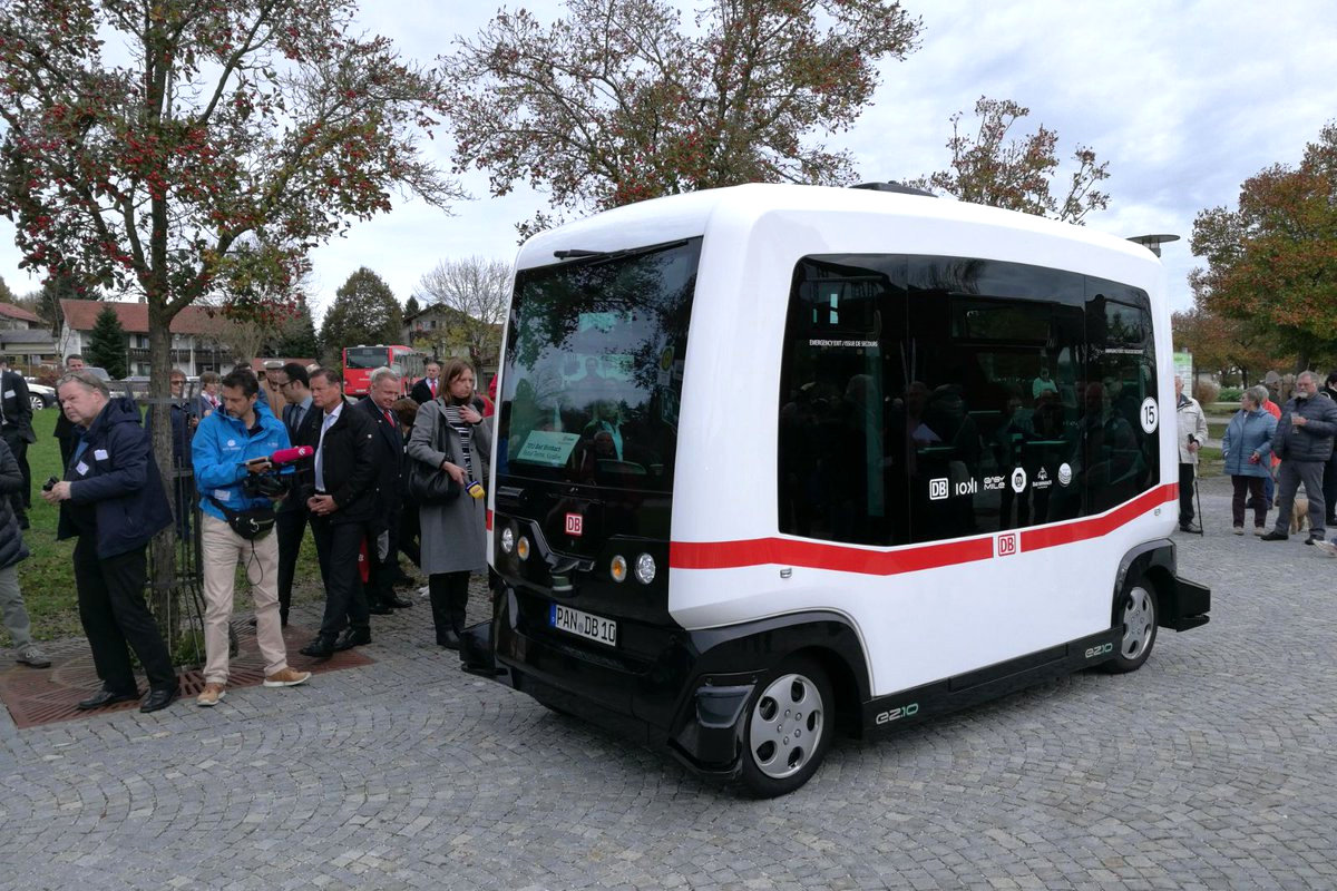 Self-driving bus appears in the streets of Germany!