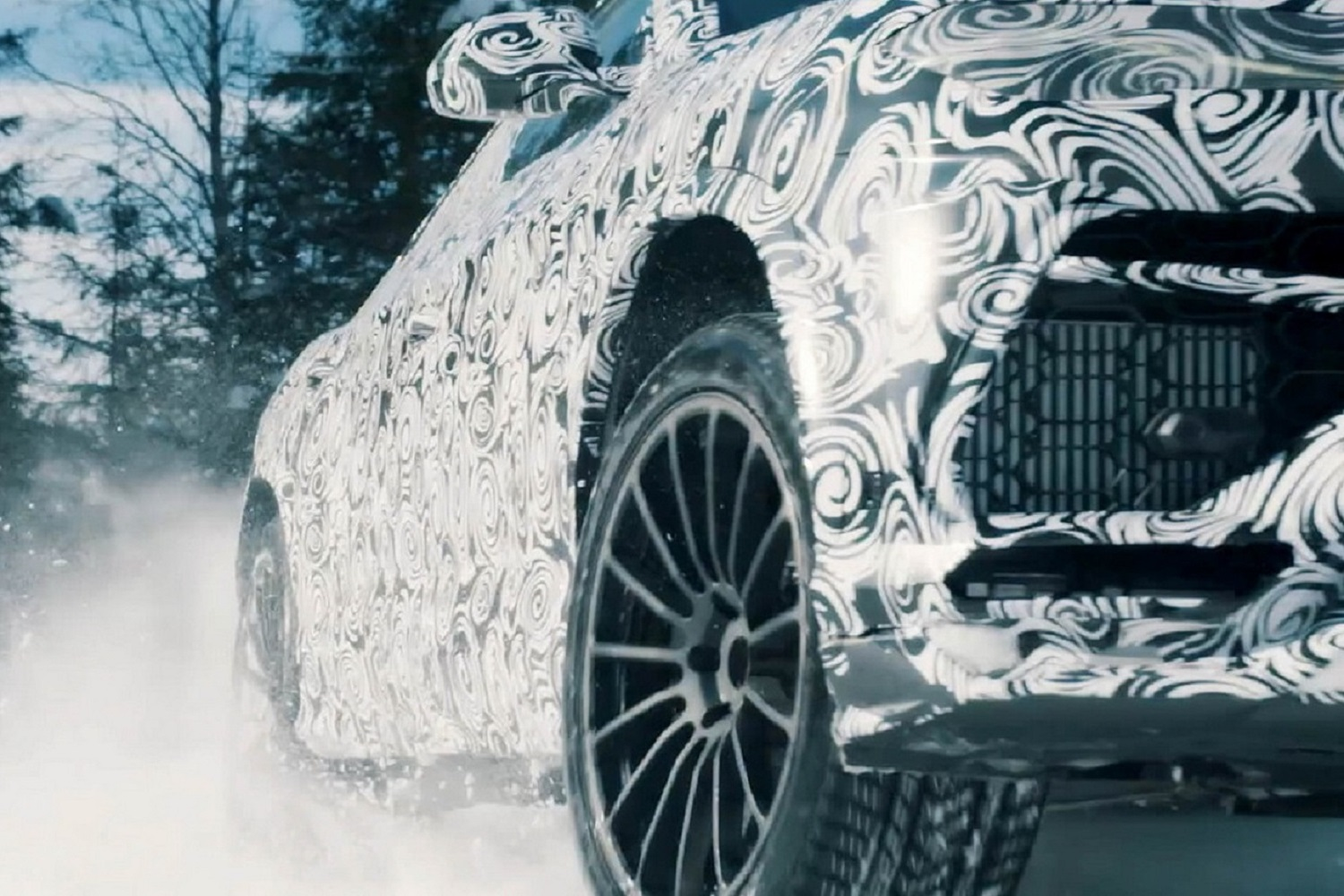 Lamborghini Urus on the Snow